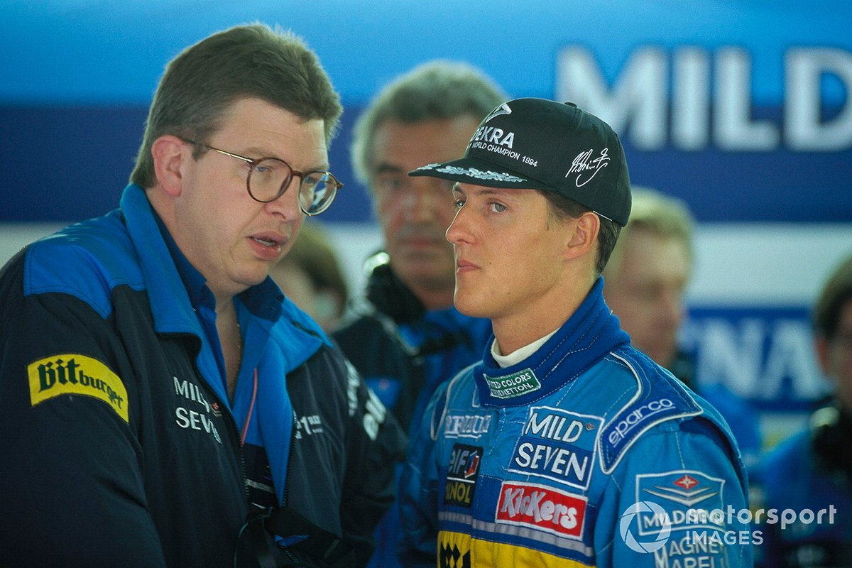 Ross Brawn y Michael Schumacher, Benetton