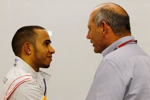 Lewis Hamilton, McLaren, with Ron Dennis, Executive Chairman, McLaren Automotive