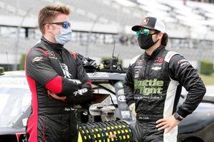 Stefan Parsons, B.J. McLeod Motorsports, Toyota Supra RacingJobs.com and Jesse Little, JD Motorsports, Chevrolet Camaro