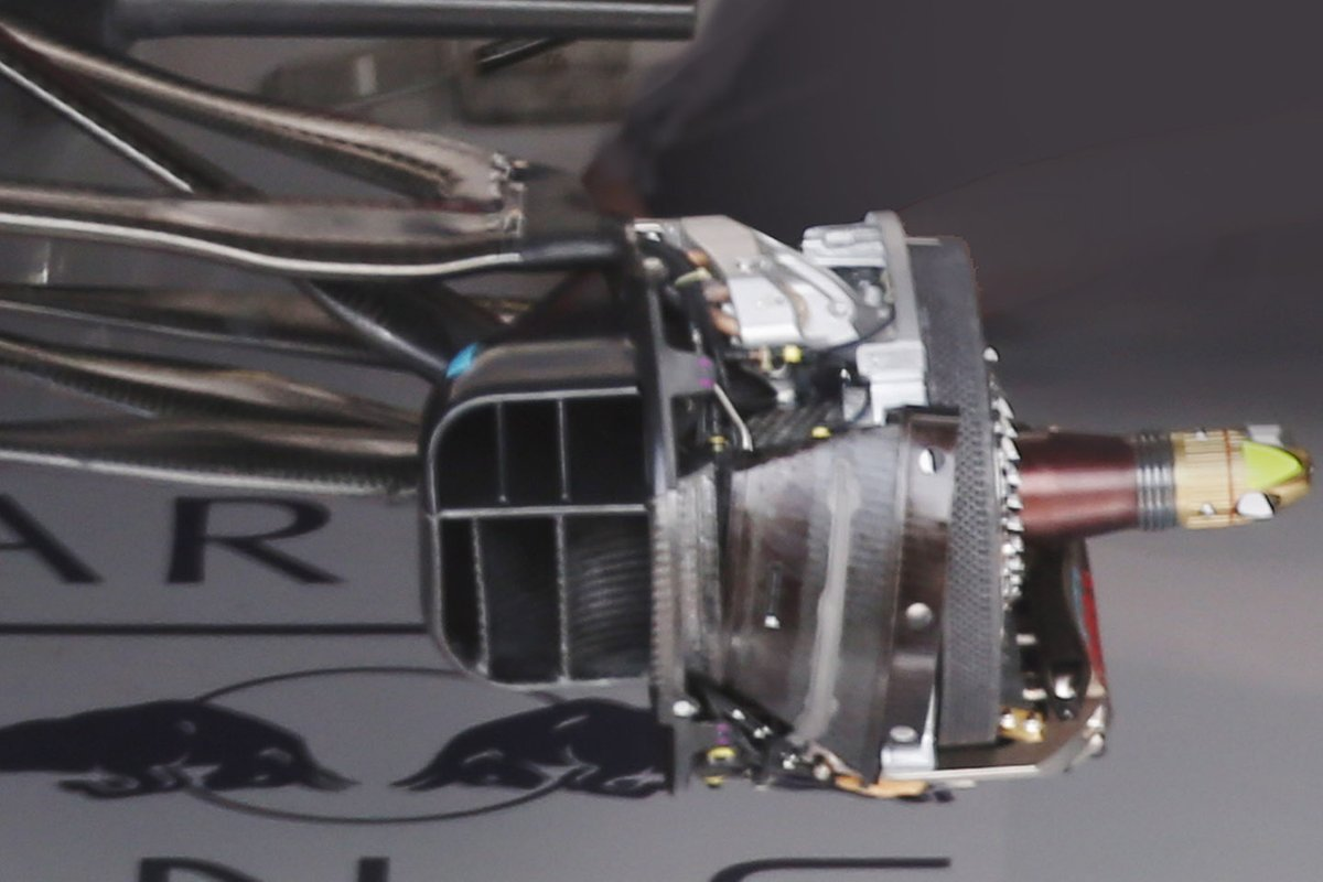 Detalle del freno del Red Bull Racing