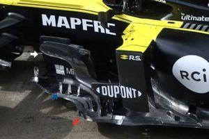 Detalle del bargeboard del Renault F1 R.S.20