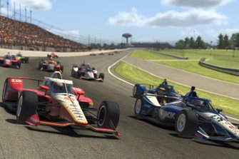 Josef Newgarden, Team Penske and Takuma Sato, Rahal Letterman Lanigan Racing