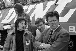 Tony Southgate, BRM designer, Tim Parnell, BRM Team Manager, GP di Gran Bretagna del 1971