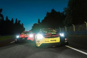 #92 Porsche Esports Team Porsche 911 RSR: Jaxon Evans, Matt Campbell, Mack Bakkum, Jeremy Bouteloup, #94 Porsche Esports Team Porsche 911 RSR: Patrick Pilet, Simona De Silvestro, Martin Krönke, David Williams
