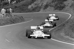 Graham Hill, Brabham BT37 Ford leads Jean-Pierre Beltoise, BRM P160B in the spare 'T' car and Carlos Reutemann, Brabham BT37 Ford