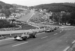 Start zum GP Belgien 1970 in Spa: Jochen Rindt, Lotus 49C, führt