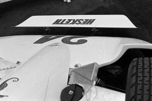 The front wing on James Hunt's Hesketh 308B Ford
