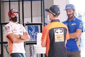 Marc Márquez, Repsol Honda Team, Pol Espargaró, Red Bull KTM Factory Racing en la conferencia de prensa