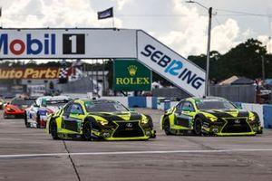 #12 AIM Vasser Sullivan Lexus RC-F GT3, GTD: Frankie Montecalvo, Townsend Bell, #14 AIM Vasser Sullivan Lexus RC-F GT3, GTD: Aaron Telitz, Jack Hawksworth, start