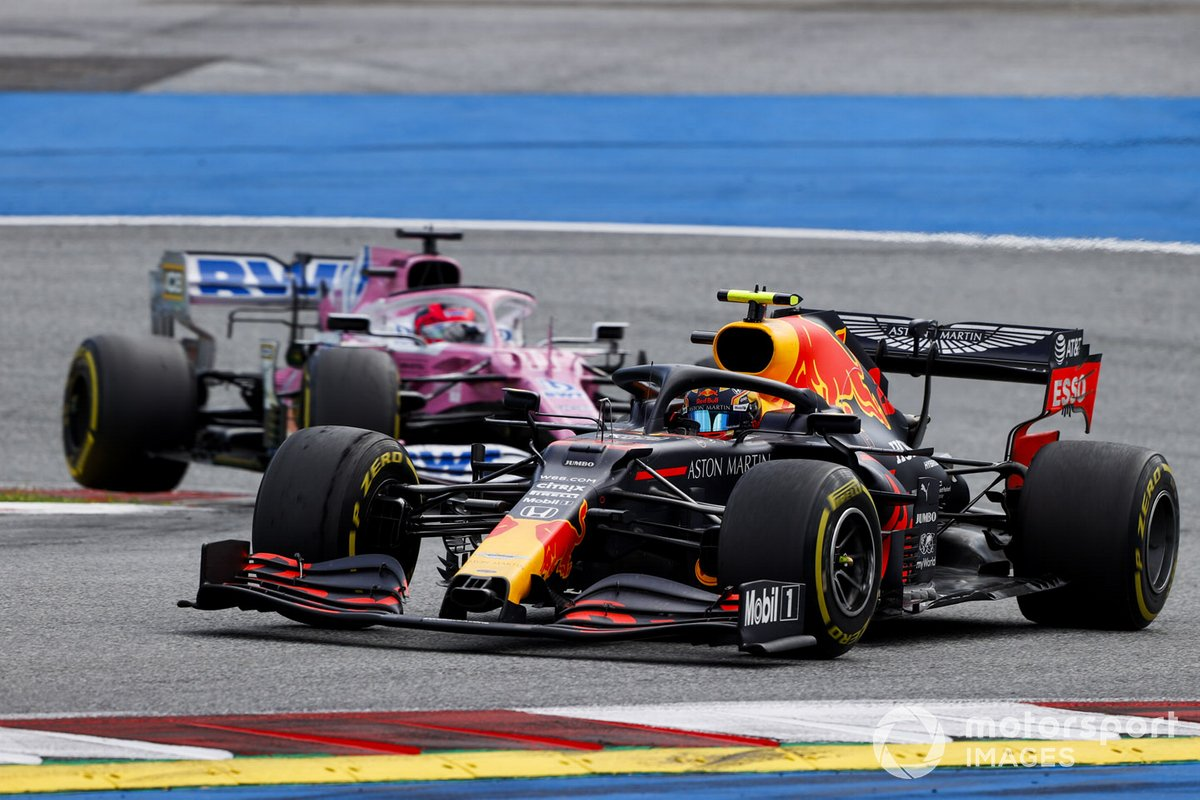 Alex Albon, Red Bull Racing RB16, Sergio Pérez, Racing Point RP20