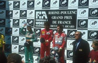 Ален Прост, Ferrari, Иван Капелли, Leyton House Racing, Айртон Сенна, McLaren и президент FIA Жан-Мари Балестр