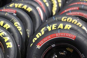 A detail of Honor and Remember tires prior to the NASCAR Cup Series Coca-Cola 600