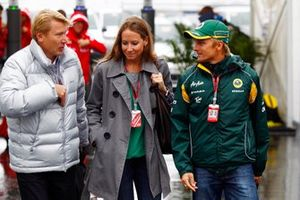 Mika Hakkinen and Heikki Kovalainen, Team Lotus