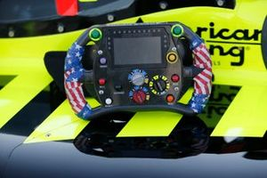 Volante del monoplaza de Santino Ferrucci, Dale Coyne Racing Honda