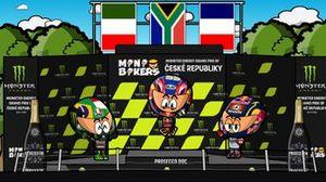 El podio del GP de la República Checa 2020, por MiniBikers
