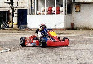 Carlos Sainz, de pequeño, en un kart