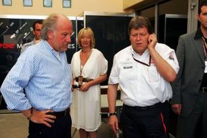 David Richards, CEO Prodrive with Norbert Haug, Mercedes Sporting Director