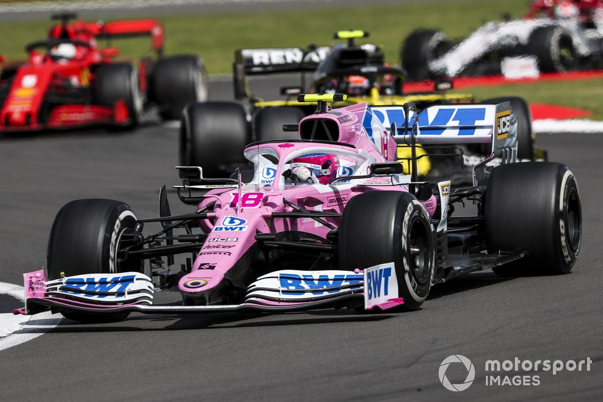 Lance Stroll, Racing Point RP20, Esteban Ocon, Renault F1 Team R.S.20, Sebastian Vettel, Ferrari SF1000