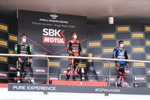 Jonathan Rea, Kawasaki Racing Team, Scott Redding, Aruba.it Racing Ducati, Toprak Razgatlioglu, Pata Yamaha
