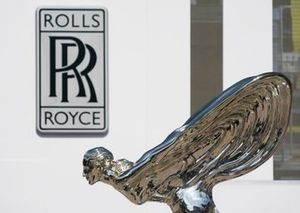Rolls Royce Spirit of Ecstasy and logo