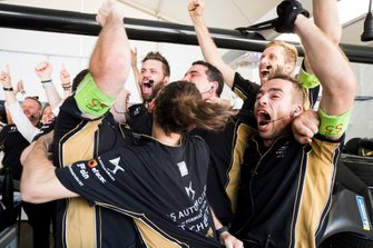 The Techeetah team celebrate after winning the championship