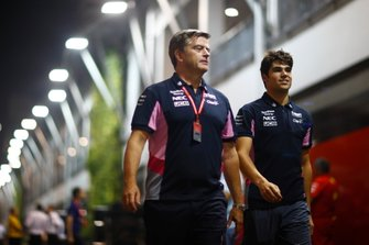 Andy Stevenson, Director Deportivo, Racing Point, y Lance Stroll, Racing Point
