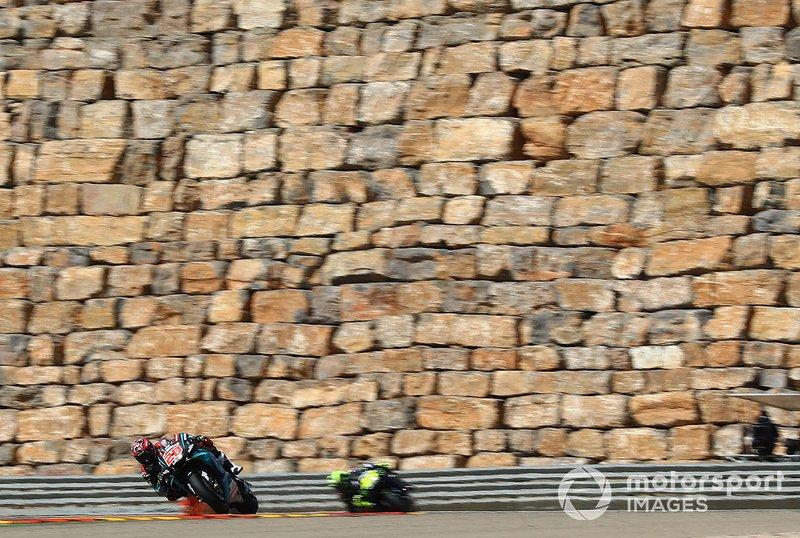 ...el GP de Aragón de MotoGP, que fue uno de los cambios que la categoría hizo en su calendario. Se adelantó una semana para dejar sitio al GP de Tailandia, y el GP de Estados Unidos pasó a noviembre.