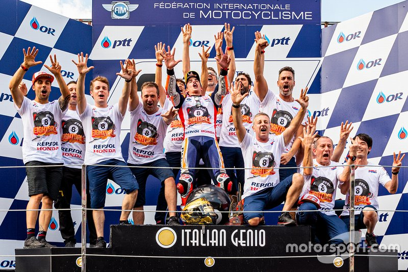 Repsol Honda Team celebrates 8th championship of Marc Marquez