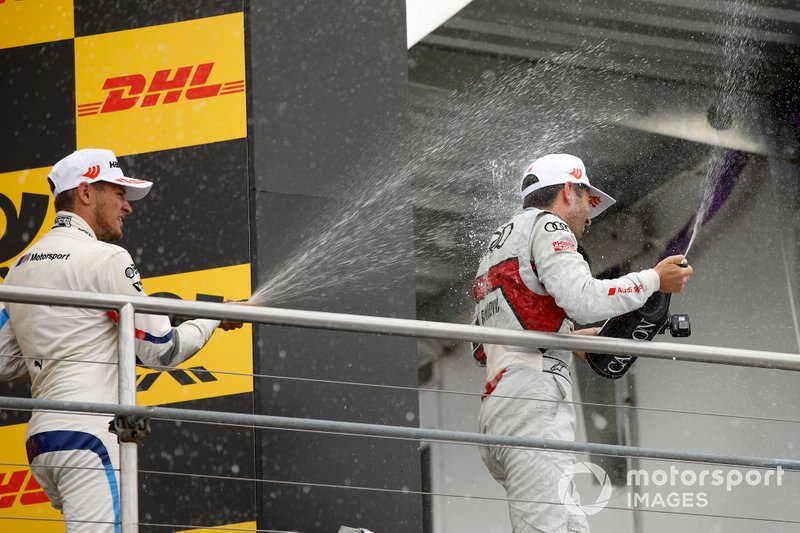 Podium: Marco Wittmann, BMW Team RMG and Mike Rockenfeller, Audi Sport Team Phoenix