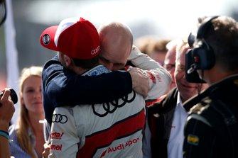 Dennis Rostek avec René Rast, Audi Sport Team Rosberg