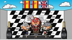 El podio del GP de Alemania de MotoGP 2019, por MiniBikers