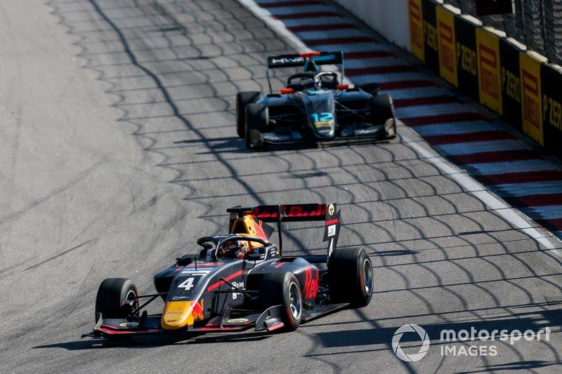 Liam Lawson, MP Motorsport and Keyvan Andres, HWA RACELAB