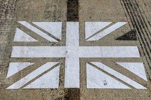 Logo della bandiera britannica a Silverstone