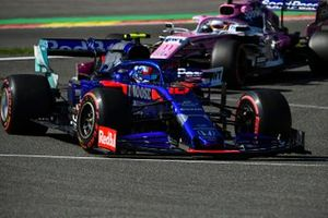 Pierre Gasly, Toro Rosso STR14, leads Sergio Perez, Racing Point RP19