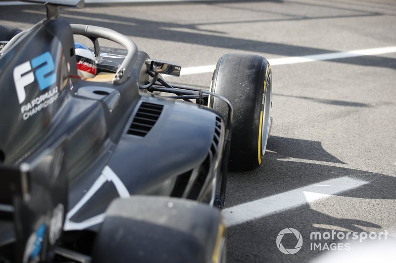 Jean Alesi tests the new Pirelli 18 inch tyres for next season's F2 Car