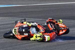 Crash Alvaro Bautista, Aruba.it Racing-Ducati Team
