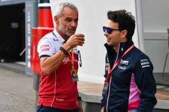 Beat Zehnder, Team Manager, Alfa Romeo Racing and Sergio Perez, Racing Point