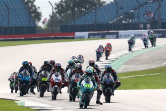 Moto3-Action in Silverstone