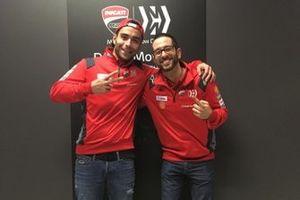 Danilo Petrucci, Ducati Team, mit Luca Semprini