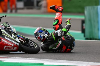 Crash of Leon Haslam, Kawasaki Racing Team