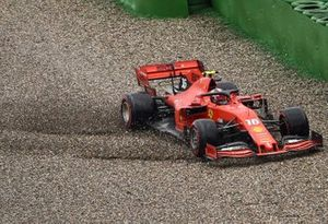 Charles Leclerc, Ferrari SF90, loses control of his car and crashes out of the race