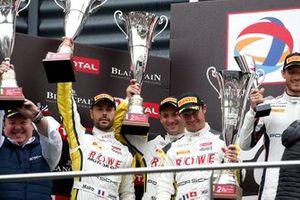 Podium: second place #998 ROWE Racing Porsche 911 GT3 R: Frédéric Makowiecki, Patrick Pilet, Nick Tandy