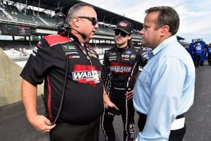 Ryan Blaney, Team Penske, Ford Mustang Wabash National and Jeremy Bullins