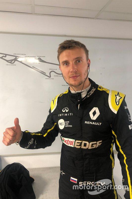 Sergey al Test Paul Ricard per i pneumatici da 18 pollici