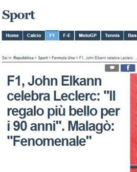 Imprensa Italiana destaca Charles Leclerc e questiona Sebastian Vettel - La Repubblica