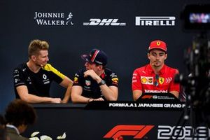 Nico Hulkenberg, Renault F1 Team, Max Verstappen, Red Bull Racing and Charles Leclerc, Ferrari in the Press Conference
