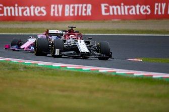 Kimi Raikkonen, Alfa Romeo Racing C38, Lance Stroll, Racing Point RP19