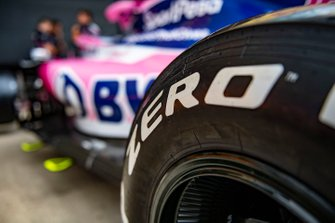 Pirelli tyre on Racing Point RP19