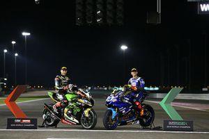 WSBK Champion Jonathan Rea, Kawasaki Racing, WSS Champion Sandro Cortese, Kallio Racing