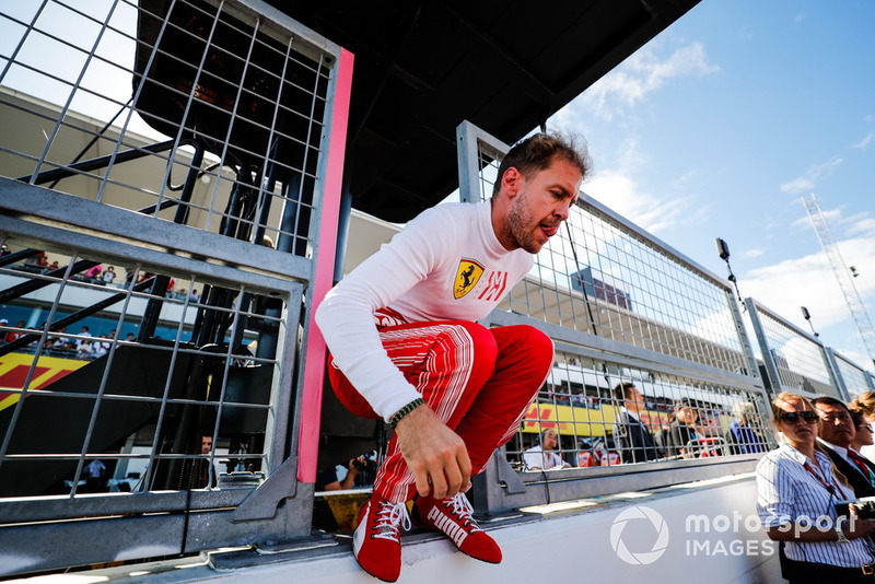 """Sebastian Vettel: """"Eu estava tentando forçar para passar, mas não estava desesperado. Eu sabia que ele tinha uma punição, mas também senti que estávamos mais rápidos"""""""